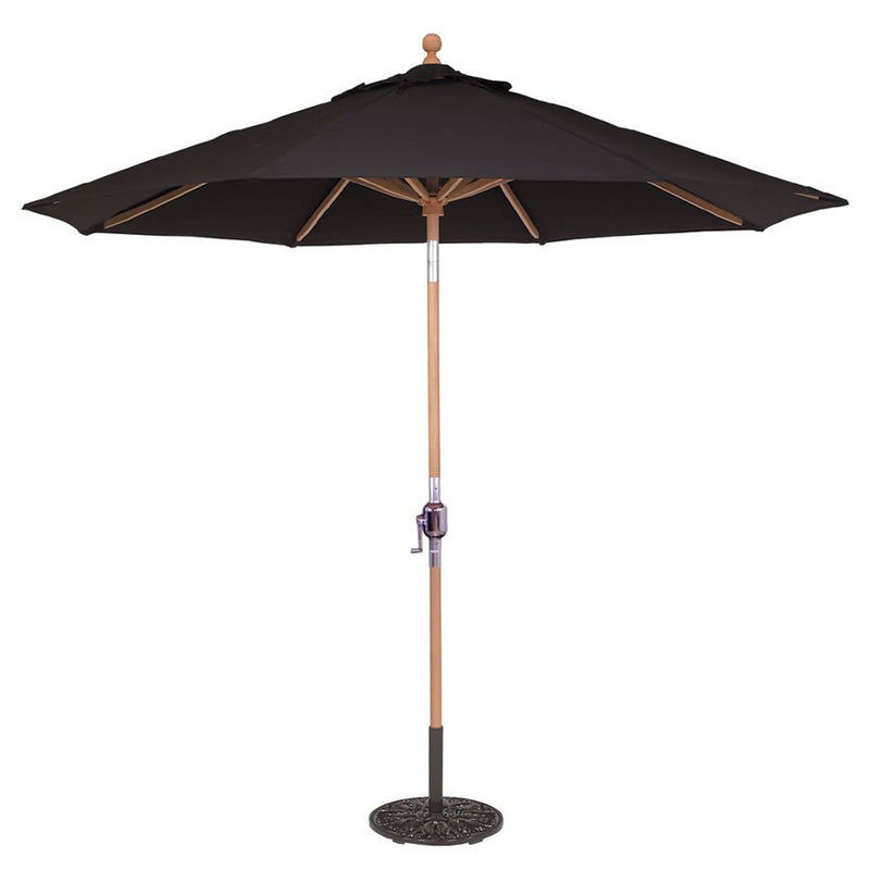 Galtech International 9 Ft. Teak Rotational Tilt Umbrella - New Product