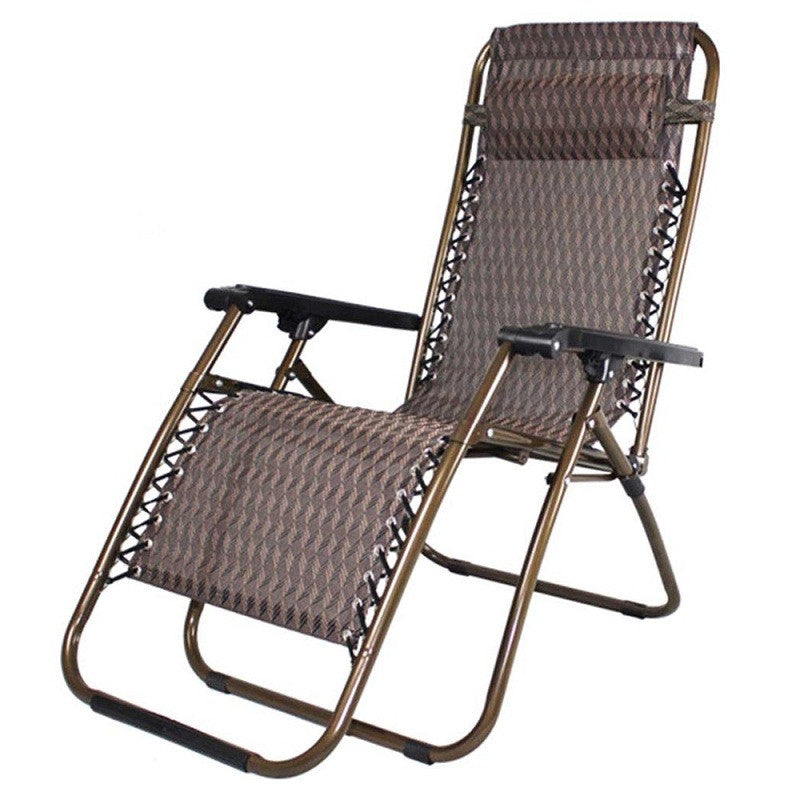 HLC Zero Gravity Lounge Chair, Brown Patio Chairs Outdoor Yard Folding Reclining Chair Outdoor Breathable Christmas  Gift