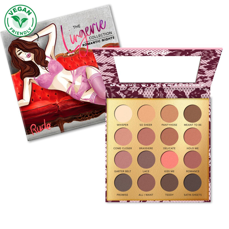 Rude Lingerie Collection 16 Matte Eyeshadow Palette - Romantic Nights