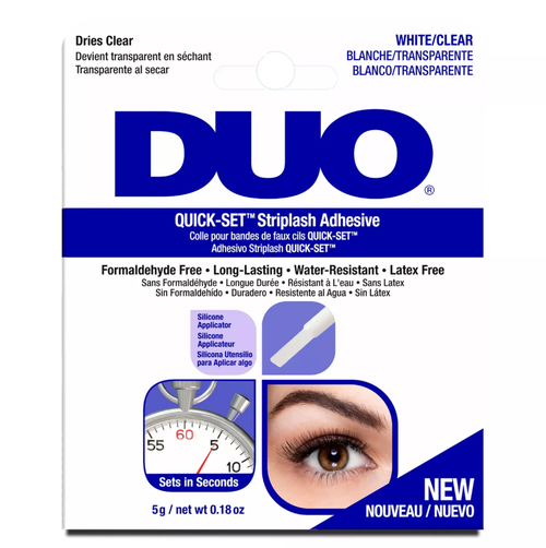 DUO Eyelash Glue Quick-Set Striplash Adhesive (Navy Blue) - Clear