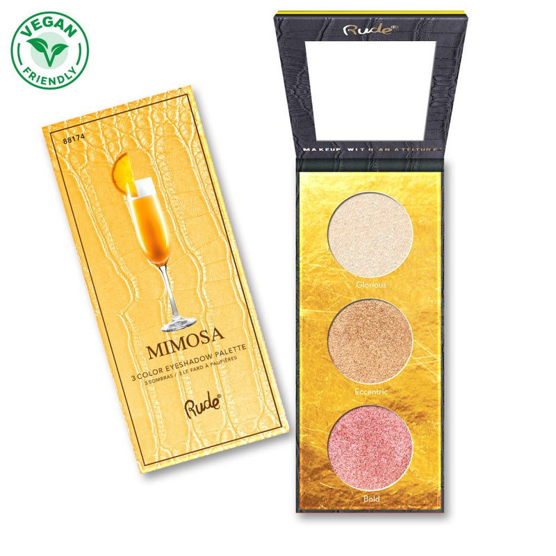 Rude Cocktail Party Luminous Highlighter & Eyeshadow Palette - Mimosa