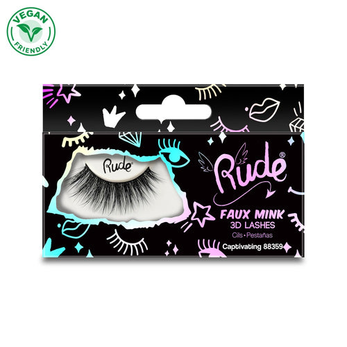 Rude Faux Mink 3D Lash - Captivating