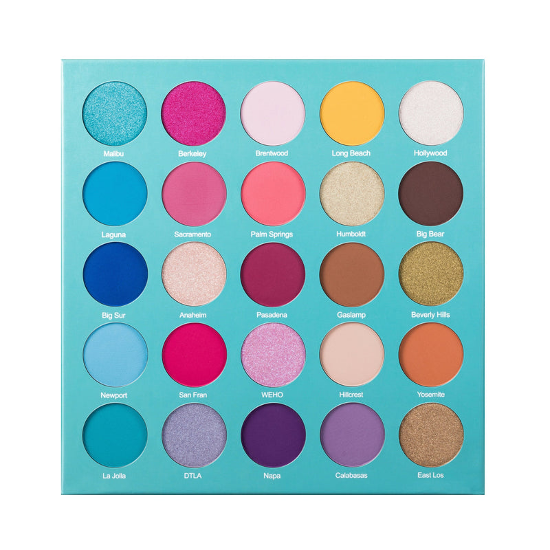 Lurella 25-Color Eyeshadow Palette - Golden State