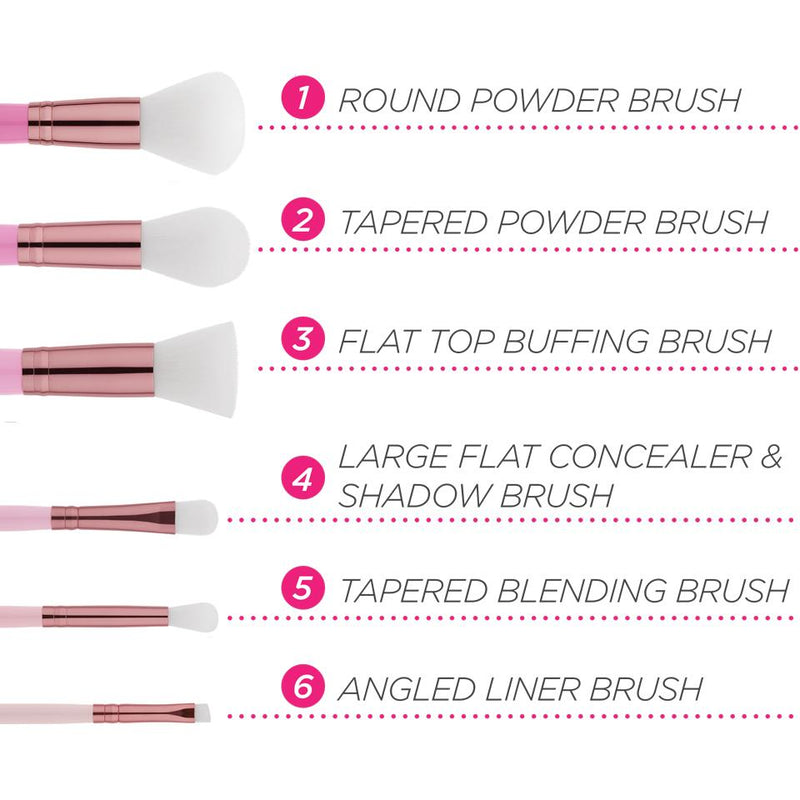 BH Mini Pink Perfection - 6 Piece Brush Set