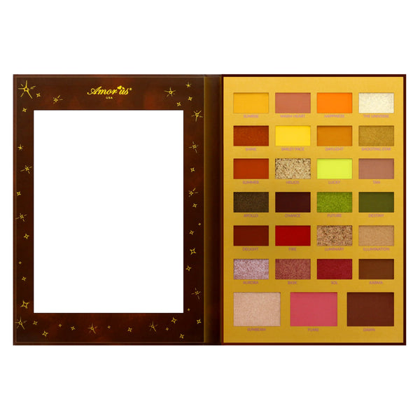 Amorus 27-Color Eyeshadow Palette - The Sun