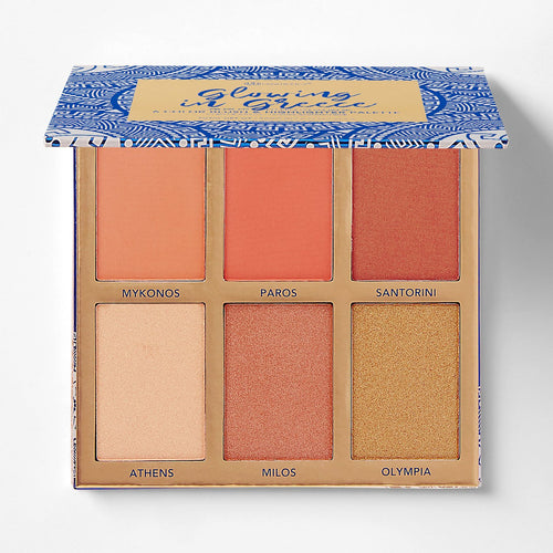 BH Glowing in Greece - 6 Color Blush & Highlighter Palette