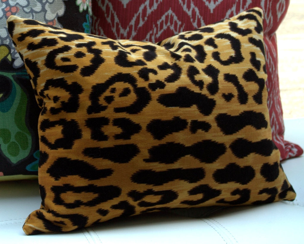 jayson leopard pillow home pillows navy