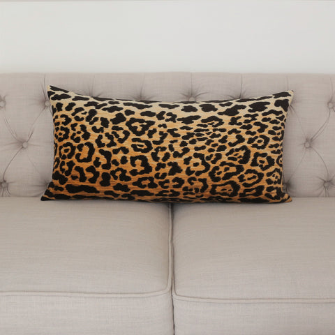 READY TO SHIP - Leopard Velvet 14x28