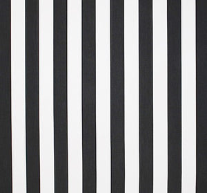 Cabana Stripe Black & White Indoor/Outdoor fabric