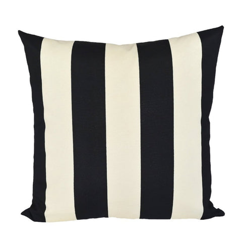 Cabana Stripe Black & Ivory Indoor/Outdoor