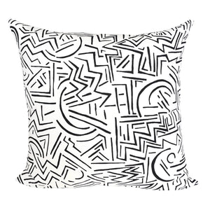 READY TO SHIP - Lascaux Black on White 20x20