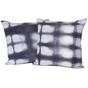 READY TO SHIP - Shibori Grid 20x20 (Pair)