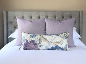 READY TO SHIP - Linen Canvas Violet 24x24 (Pair)