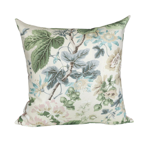 READY TO SHIP - Highgrove Floral Rich Cream with Blush Pink 20x20