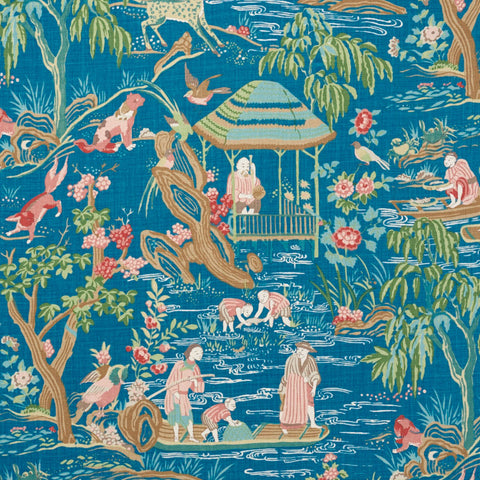 Yangtze River Peacock fabric