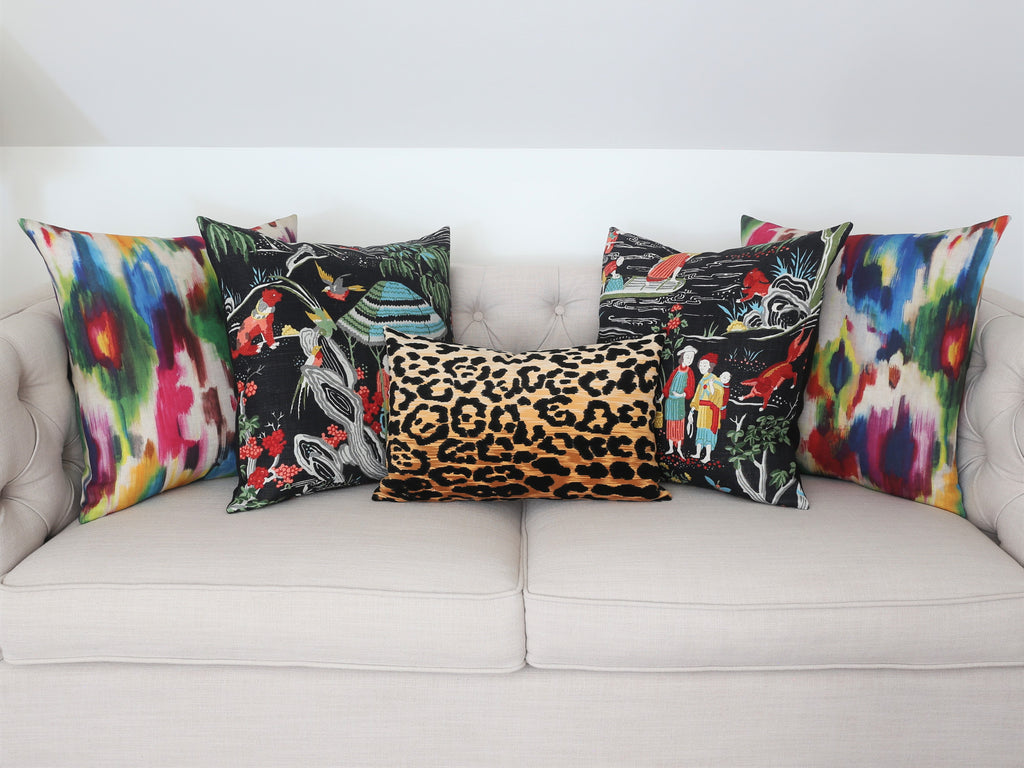 tonic navy leopard bianca pillows x yellow products in blue touch velvety with living pillow light print a lamp fall peacock gold shade soft