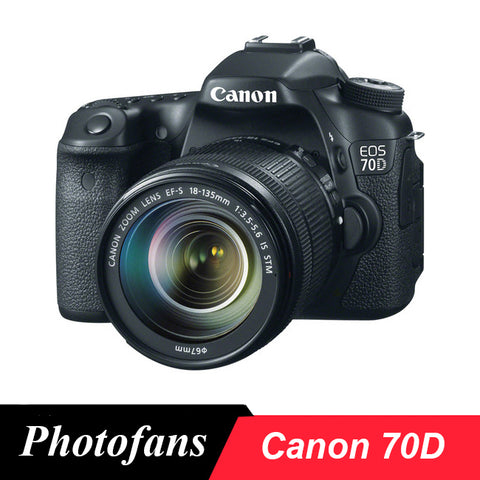Canon  70D DSLR Camera -20.2MP  -Vari-Angle Touchscreen 1080p Video Built-In Wi-Fi