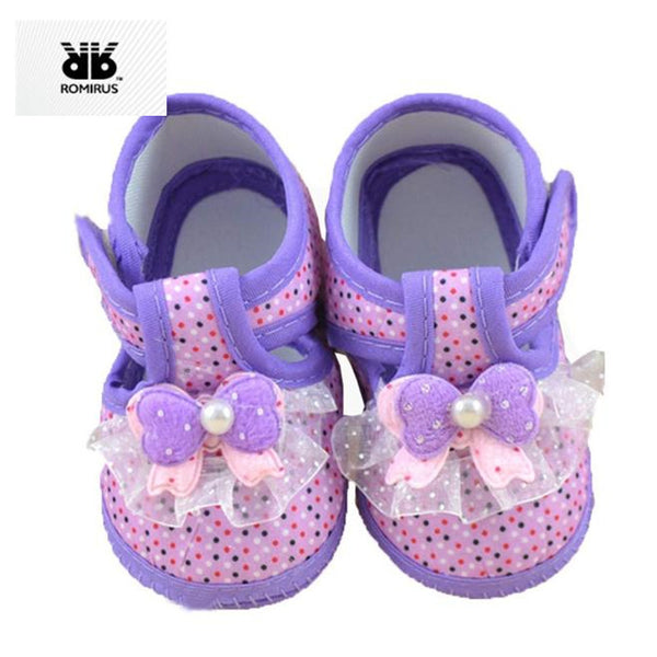 Princess Baby Girl Shoes First Walkers Soft Sole Infant Crib Moccasins Shoes for Babies
