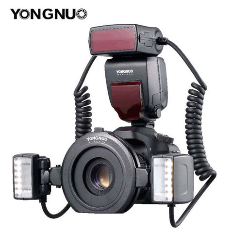 Yongnuo Flash Speedlite for Canon Cameras with Dual 2pcs Flash Head + 4pcs Adapter