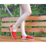 A pedal Korean lazy canvas shoes shallow mouth to help flat shoes