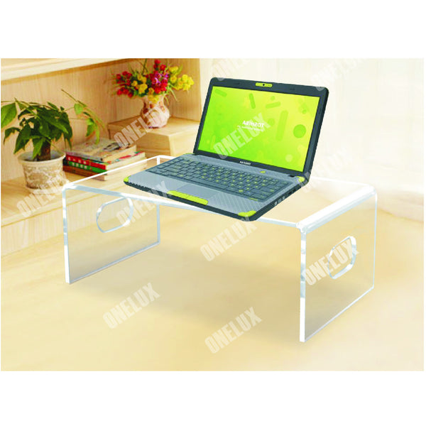 One Lux Desktop Acrylic Laptop Stand,Computer Monitor Stand,Lucite PC Desk U Shape