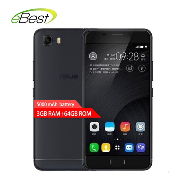 ASUS Zenfone  mobile phone 5000mAh 5.2 inch MT6750 Octa Core android 7.0 64G
