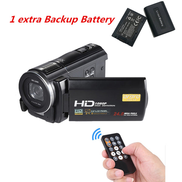 Ordro Full HD Digital Camera 24MP Professional Video Camcorder Recorder & Photo Camera