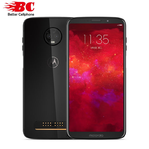 "New Motorola MOTO Z3  6GB RAM 128GB ROM LTE 6.0"" Dual camera 12MP Snapdragon 835 Octa Core Android 8.1 Dual SIM  Mobile Phone"