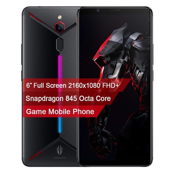 "Original nubia Red Magic Mars mobile phone 6.0"" 8GB RAM 128GB/256GB ROM Snapdragon 845 Octa core Front 16MP Rear 8MP Game Phone"