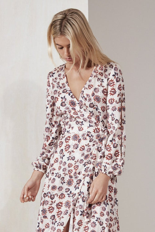 CAROUSEL WRAP DRESS