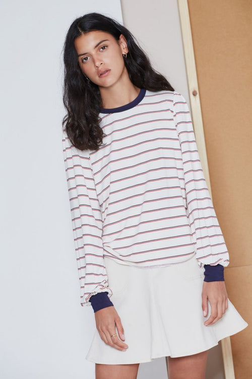 BEAT STRIPE LONG SLEEVE TOP