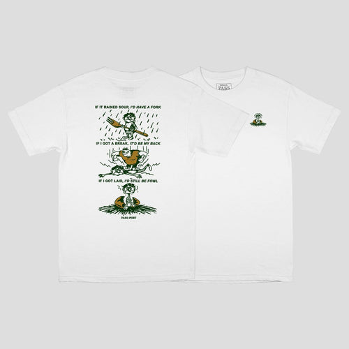 "PASS~PORT ""FOWL"" TEE WHITE"