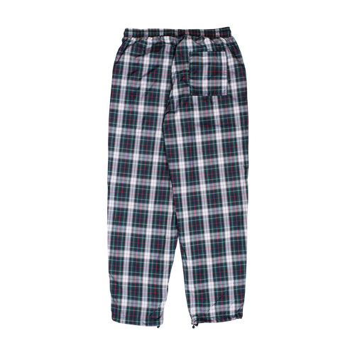 POLY PLAID TRACK PANT