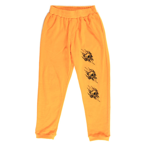 FLAME SKULL TRACKSUIT PANTS