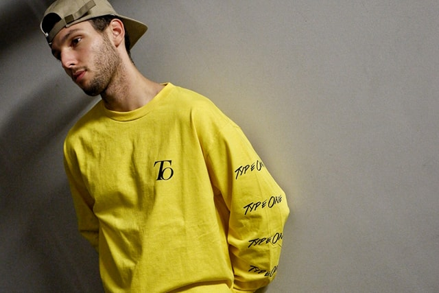 Unisex Type one longsleeve shirt x Yellow