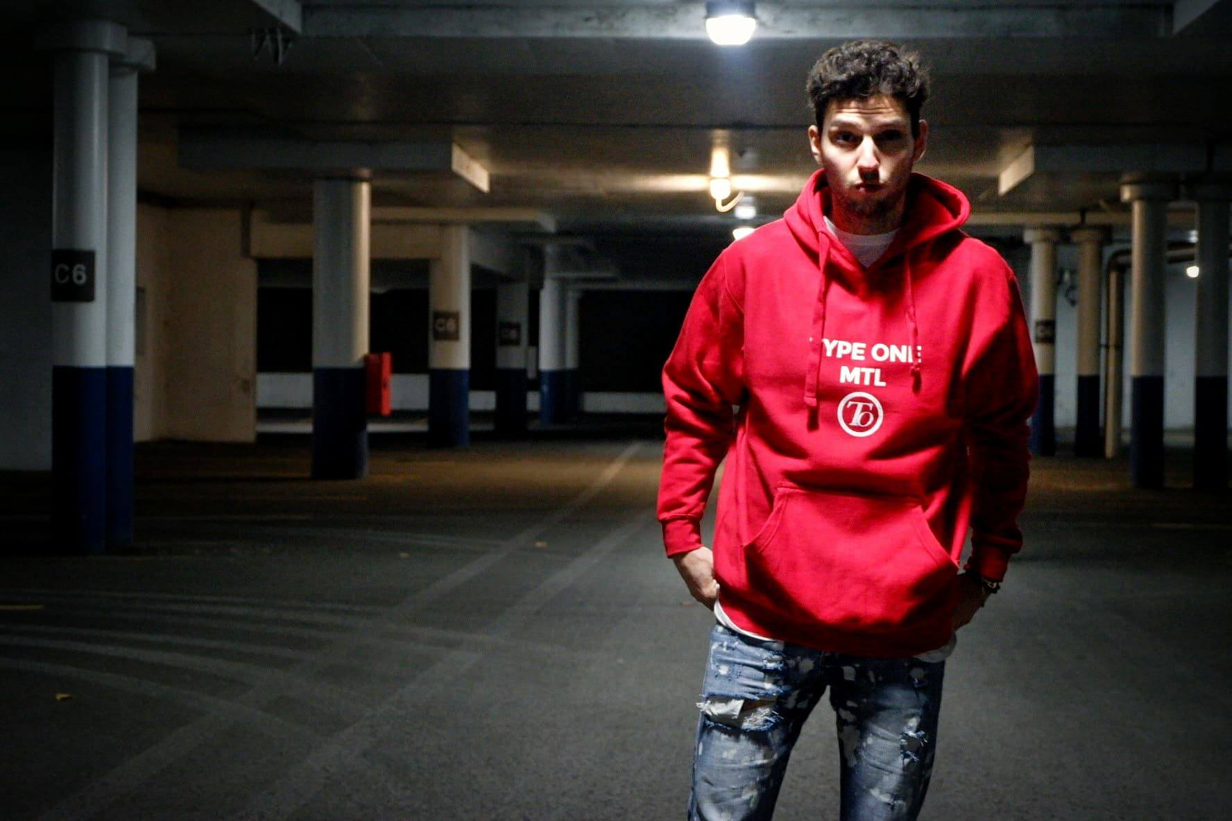 Unisex Type one Hoodie x Red