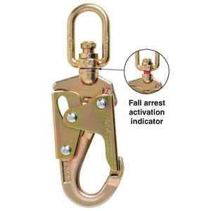 Double Action Swivel Safety Hook with Fall Arrest Indicator