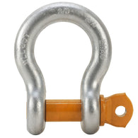 BTS Alloy Grade 'S/6' Screw Pin Bow Shackles with Orange Pin