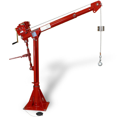BTS Thern Commander 1000 Davit Crane WLL 500Kg  Australian Certified Powder Coated Red. Winch & Base are optional.