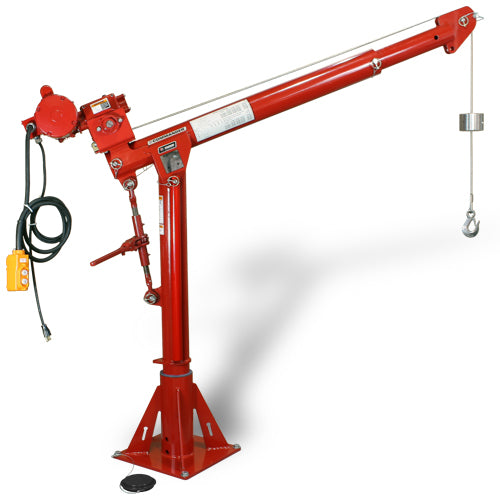 BTS Thern Commander 2000 Davit Crane WLL 907Kg  Australian Certified Powder Coated Red. Winch & Base are optional.