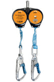 BTS IKAR Twin Self Retracting Lifelines 2  x 2m Webbing Lanyard.