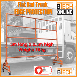 BTS Trailer Edge Protection System Mobile 3m Long x 2.5m High