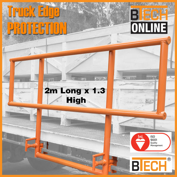 BTS Trailer Mini Edge Protection System 2m wide x 1.3m high.