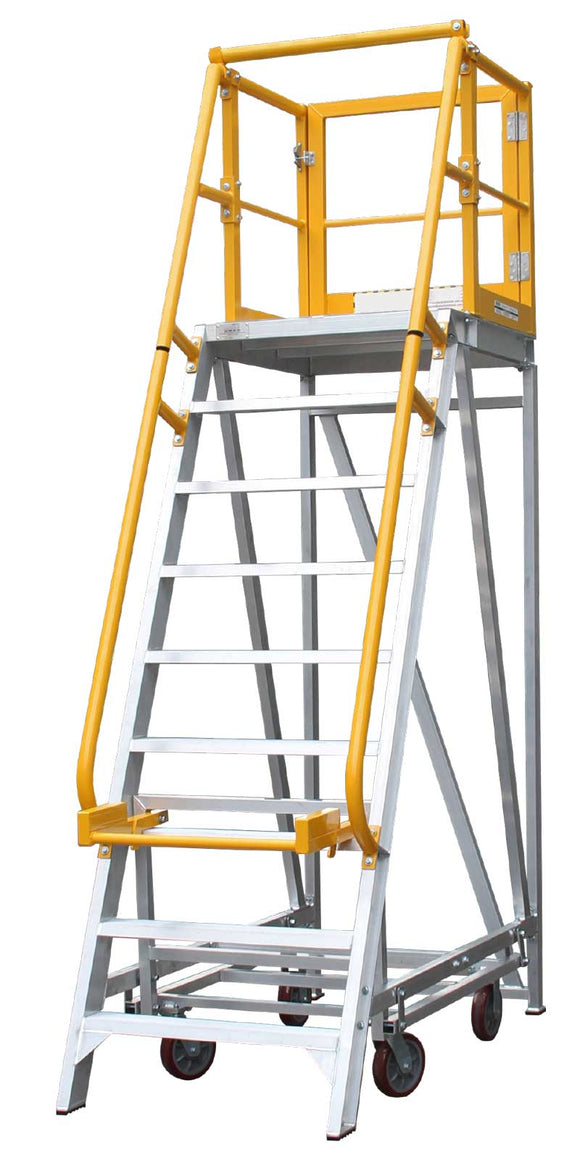 BTS Aluminum Work Platform Ladder. Platform Height from 60cm-3.6m Australian Certified. 3 Year Warranty
