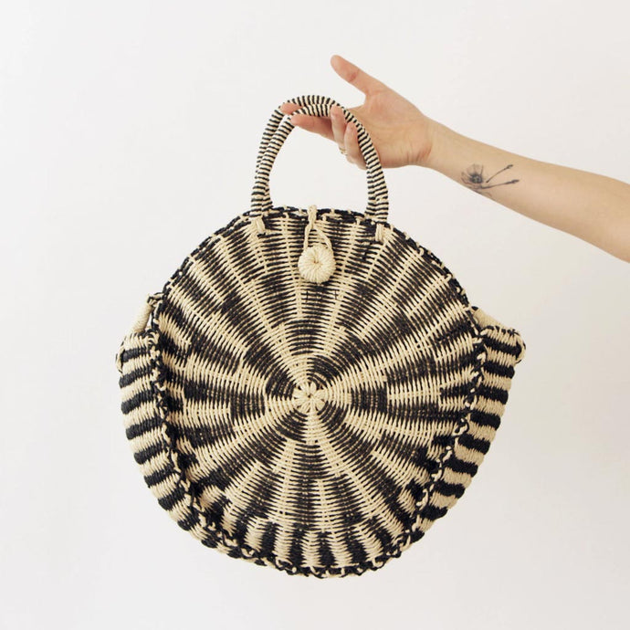 Straw Round Satchel