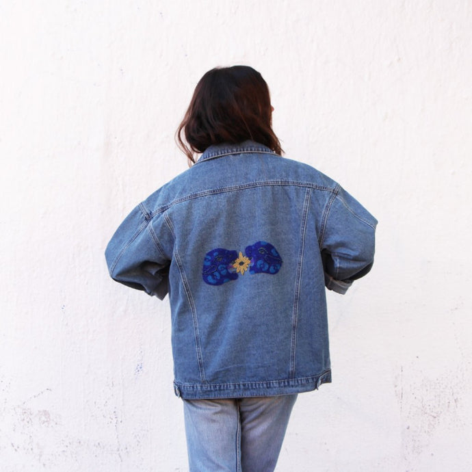 Jaguar Hand-beaded Denim Jacket