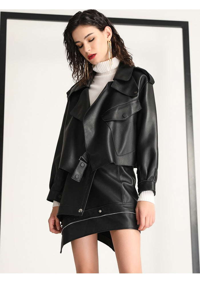 Liliana Leather Coat