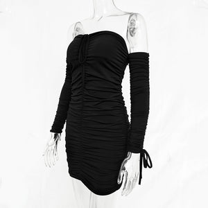 Off Shoulder Black Dress