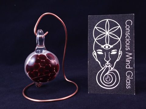 The Dragon Blood Hand Blown Glass Pendent