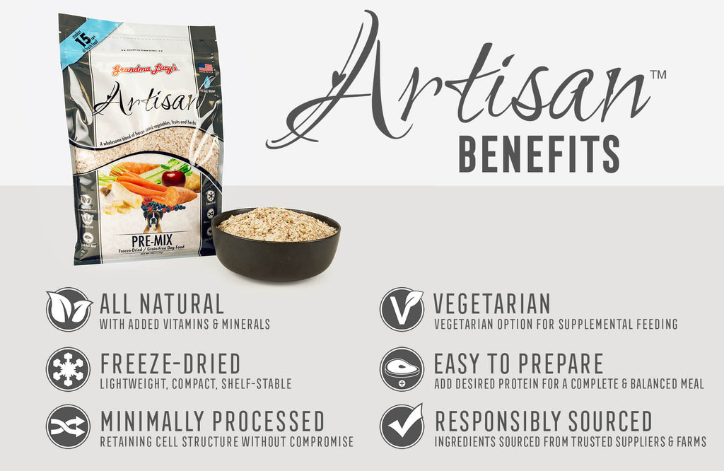Artisan Benefits: All Natural, Freeze-Dried, Minimally Processed, Vegetarian, Easy To Prepare, Responsibly Sourced Ingredients
